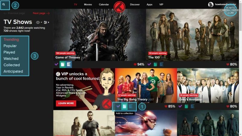 Adding tv show to collection using Trakt.tv