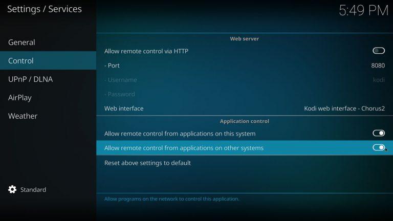 kodi-estuary-settings-service-allow-remote-control