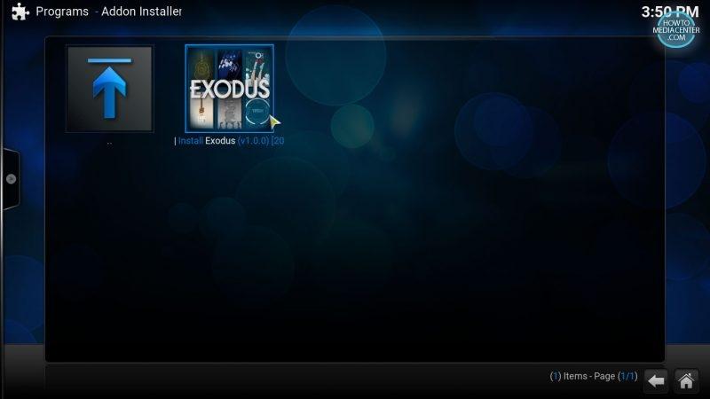Exodus on fusion installer
