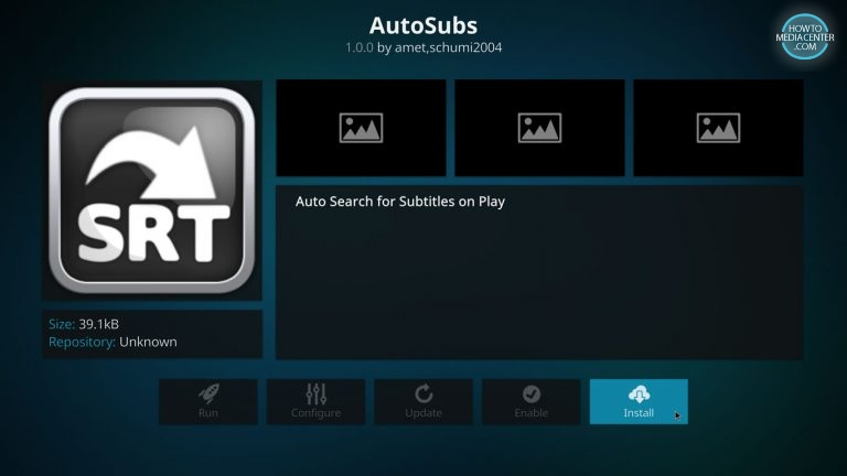 install autosubs on kodi estuary