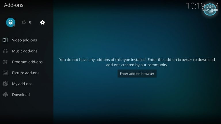 Addon browser on Kodi 17 with estuary