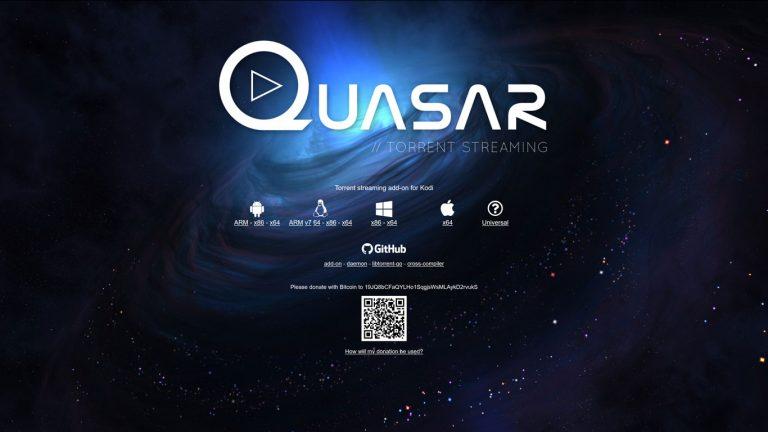 Quasar Kodi addon official site