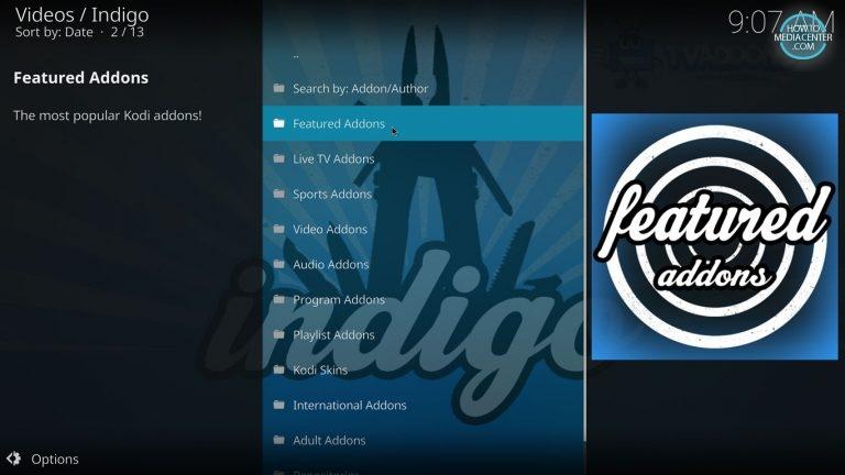 Featured Addons on Indigo Addon Installer