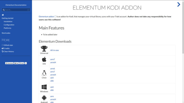 elementum kodi addon official website