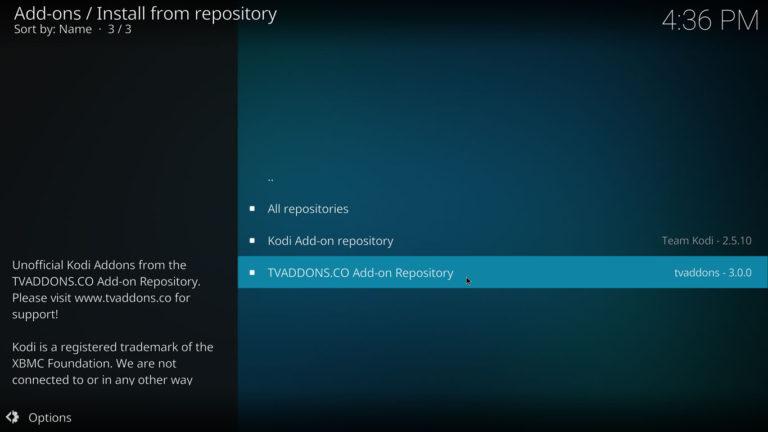 Kodi TVAddons repository