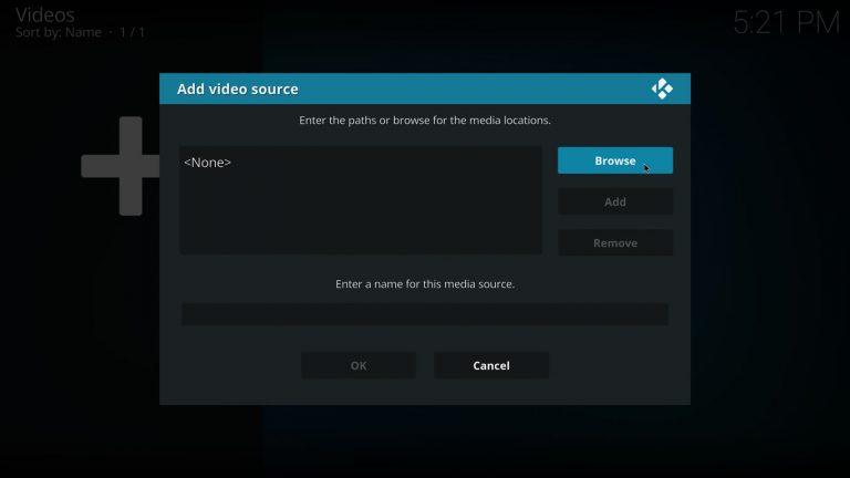 agregar fuente de video a la librería de kodi