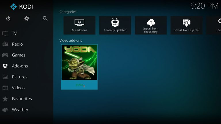 kodi yoda add-on
