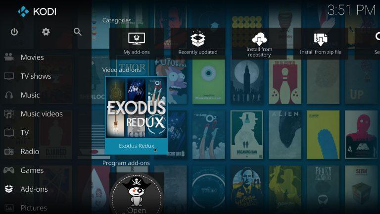 Exodus Redux Kodi add-on