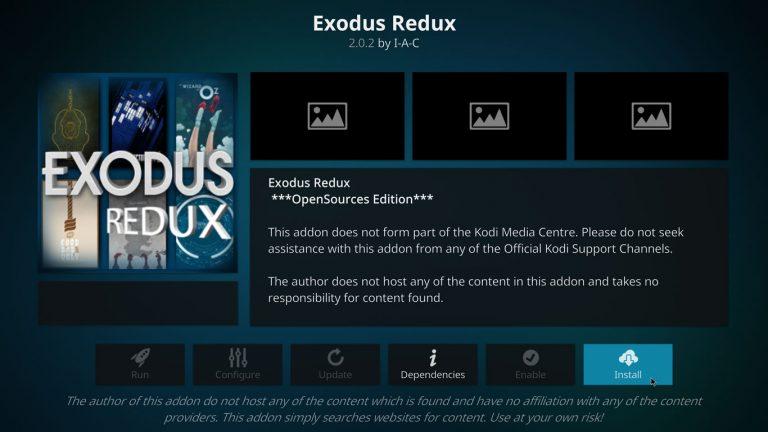 instalar Exodus Redux Kodi addon