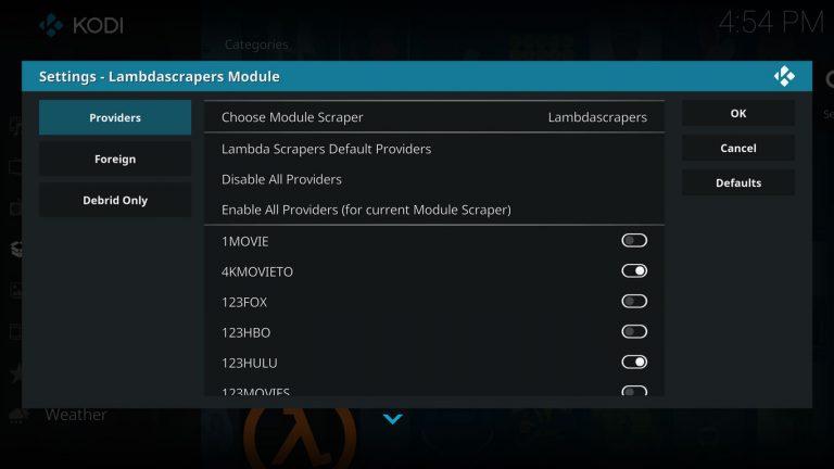 enabling providers on lambda scrapers
