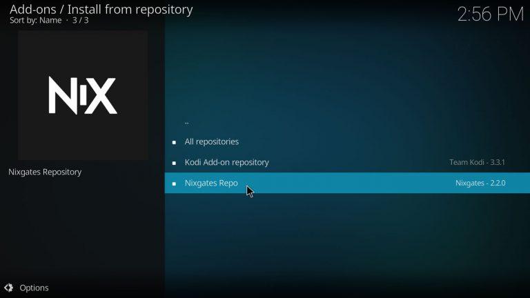 Nixgates Kodi repository