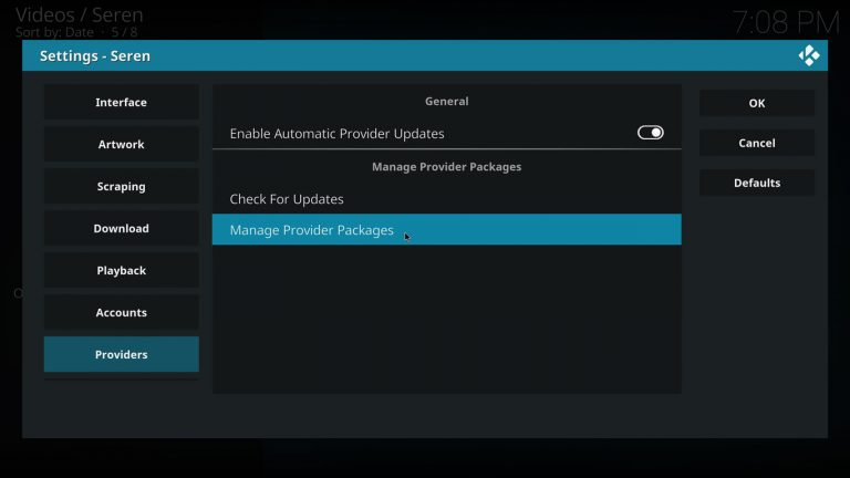 Manage provider packages on Seren