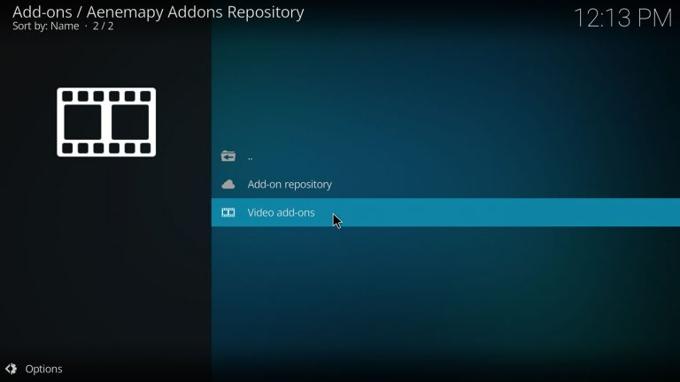 video add-ons category on aenemapy repository