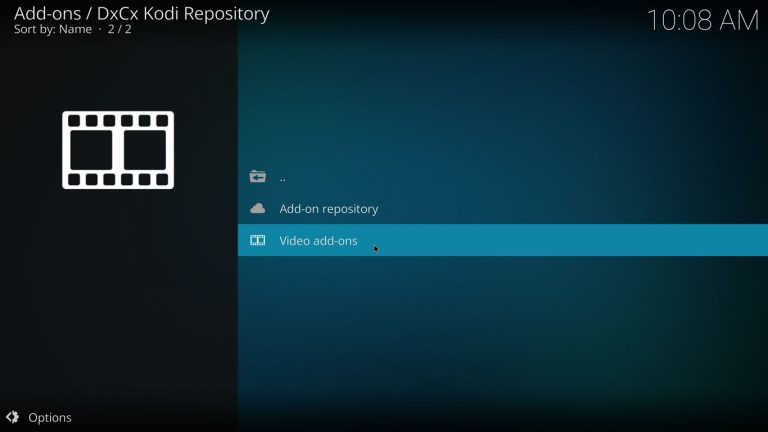 video add-ons category on dxcx repository