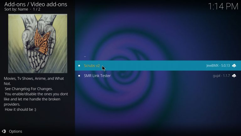 Scrubs Kodi add-on on JewBMX repo