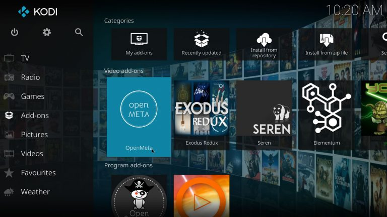 OpenMeta Kodi add-on