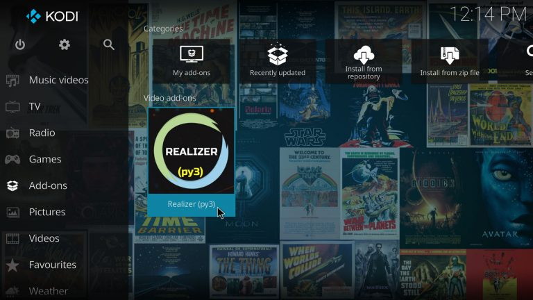 Realizer Kodi add-on