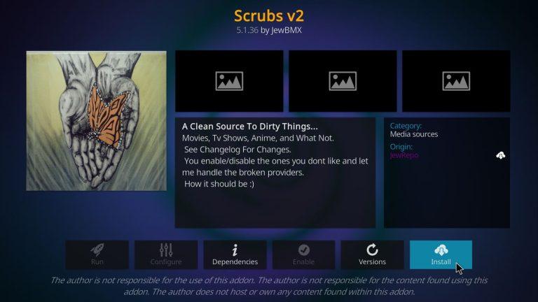 install Scrubs Kodi addon