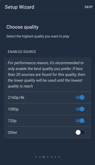 seleccionar calidad de video en wako