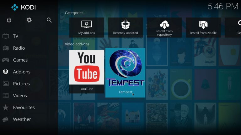 Tempest Kodi add-on