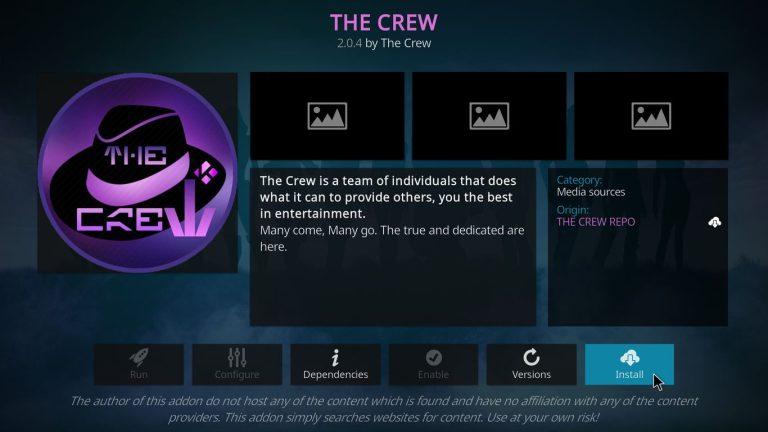 instalar The Crew Kodi addon