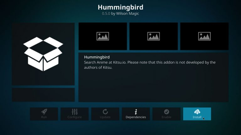 install Hummingbird on Kodi