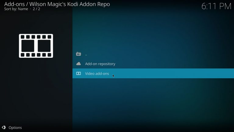 video add-ons category on Wilson Magic repo