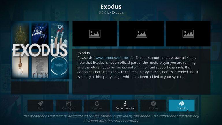 install Exodus V8 on Kodi