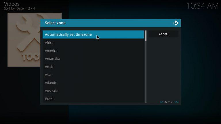 automatically set timezone on ApeX Sports