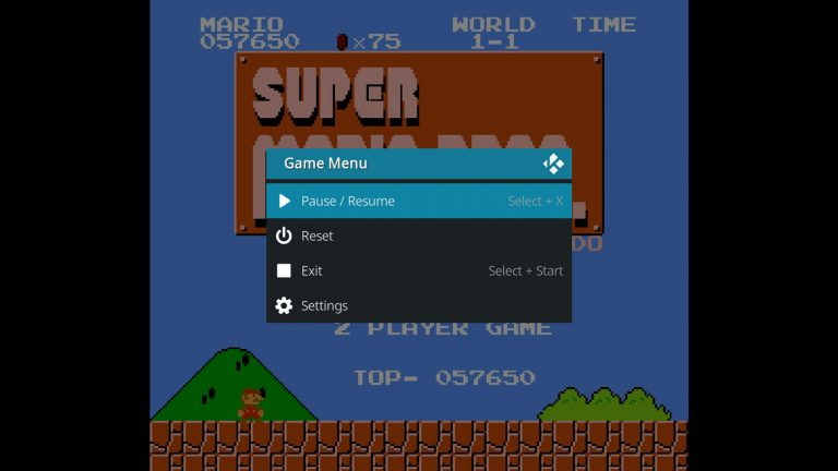 press Select + X on the controller to open the in-game menu