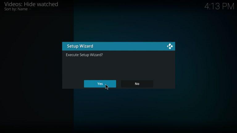 execute IAGL setup wizard