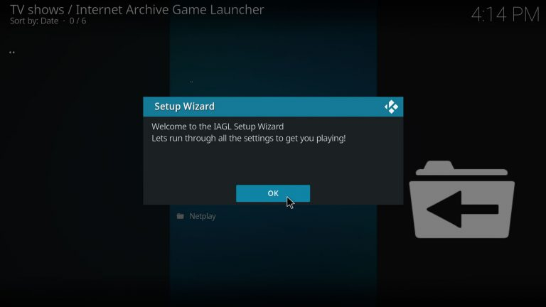 Internet Archive Game Launcher setup wizard